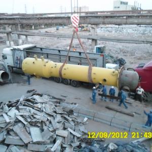 Demontare, impachetare si incarcare pentru relocare a Fabricii de Acid Azotic 725 NTD Doljchim